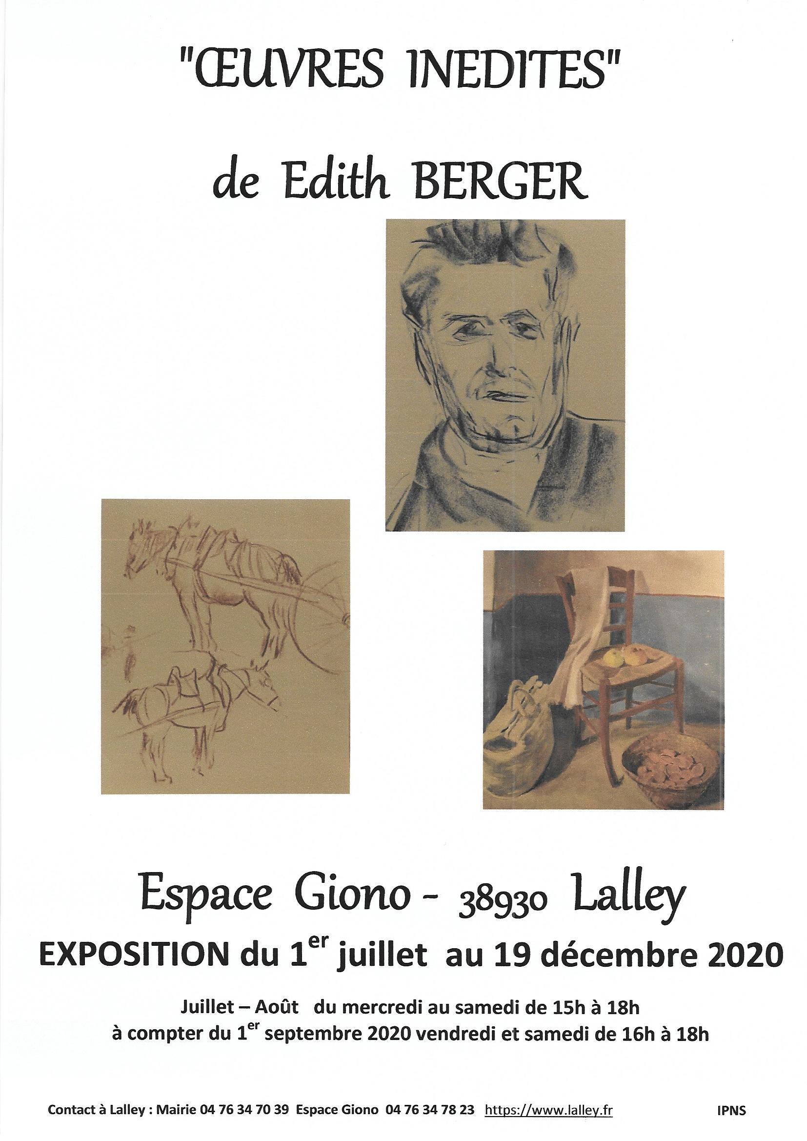 2020 exposition Edith Berger Espace Giono Lalley fr